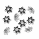 Antiqued Silver 10mm Star Bead Caps (20PK)