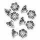Antiqued Silver 8mm Flower Cone Bead Caps (20PK)