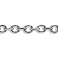 Antiqued Silver Plated 3X4 mm Cable Chain (1FT)