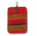 Dichroic Striking Orange 40x30mm Pendant (1PC)