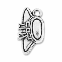 Antiqued Silver 17mm Hat Charms (10PK)