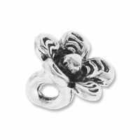 Antiqued Silver Thai Style 9mm Flower Charms (10PK)