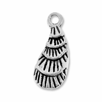 Antiqued Silver 15mm Sea Shell Charms (10PK)