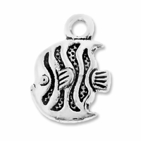 Antiqued Silver 14mm Tropical Fish Charms (10PK)