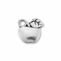 Antiqued Silver Apple Charm (10PK)