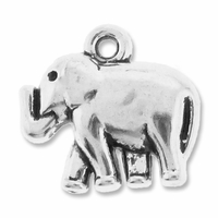Antiqued Silver 18mm Elephant Charms (5PK)