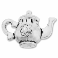 Antiqued Silver 12mm Teapot Charms (5PK)