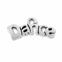 Antiqued Silver cute DANCE Charm (10PK)