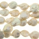 White 10-11mm Coin Pearl Bead Strand