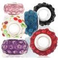 MIOVI™ Rhinestone Beads in Resin w/Silver Plated Grommet