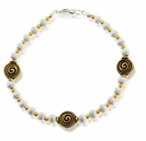 Sterling Silver and Gold Swirl Bracelet Design Kit