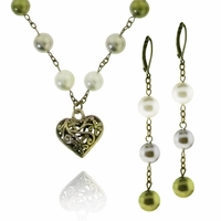 South Sea Pearls & Filigree Heart Jewelry Design Kit