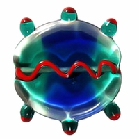 27mm Glass Bug Cobalt (1 PC)