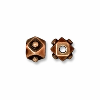Antiqued Copper 4mm Faceted Cube Bead (5PK)