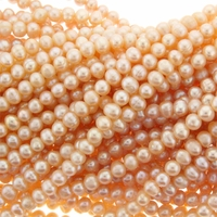 Peachy Pink Potato Freshwater Pearl 5-6mm Bead Strand