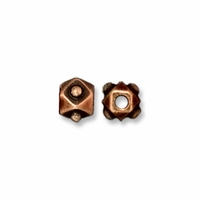 Antiqued Copper 3mm Faceted Cube Bead (10PK)