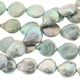 Silver 11-12mm Coin Pearl Bead Strand