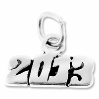 Sterling Silver 2013 Horizontal Charm