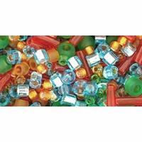 TOHO Haiku Orange Green Blue Seed Bead Mix