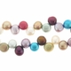 Multi-Color Top Drilled Potato Pearl w/Flat Side 5mm Bead Strand