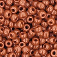 Opaque Terra Cotta Seed Bead size 11/0