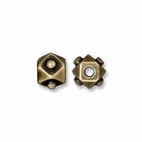Brass Oxide 4mm Faceted Cube Bead (5PK)