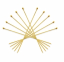 Gold Plated 2 Inch Ball End Head Pin (10PK)