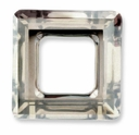 20mm Swarovski Square Ring 4439 Crystal Silver Shade