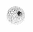 6mm Sterling Silver Stardust  Round Beads w/1.8mm hole  (1PC)