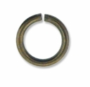 Antiqued Brass 7mm Open Jump Rings  (50PK)