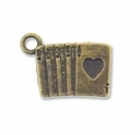 Antiqued Brass Royal Flush Charm (10PK)