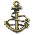 Antiqued Brass 24mm Anchor Charm (10PK)