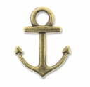Antiqued Brass 18mm Anchor Charm (10PK)
