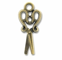 Antiqued Brass Scissors Charm (10PK)