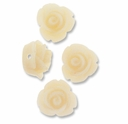 11mm Little Ivory Rose Resin Beads (4PK)
