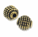 Antiqued Brass Decorative Round Bead (5PK)