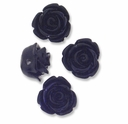 11mm Little Black Rose Resin Beads (4PK)