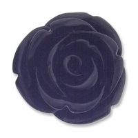 20mm Black Rose Resin Bead (1PC)