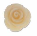 20mm Ivory Rose Resin Bead (1PC)