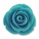 20mm Turquoise Rose Resin Bead (1PC)