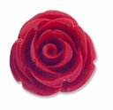 20mm Red Rose Resin Bead (1PC)