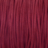 Burgundy 1.5mm Waxed Cotton Craft Cord (1YD)