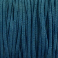 Teal 1.5mm Waxed Cotton Craft Cord (1YD)