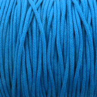 Blue 1.5mm Waxed Cotton Craft Cord (1YD)