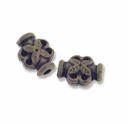 Antiqued Brass 8x6mm Lantern Spacer Beads (25PK)