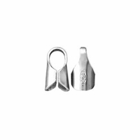2mm Silver Filled End Cap .925 10SF  (10PK)