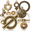 Gold Plated Pewter Beads Charms Jewerly Findings