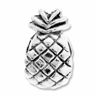 MIOVI™ Silver Plated Large Hole 11mm Pinapple Bead (1PC)
