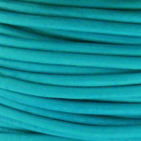 2mm Turquoise Cowhide Leather Cord 5 Meters