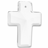 Majestic Crystal Clear 40x30 Cross Pendant